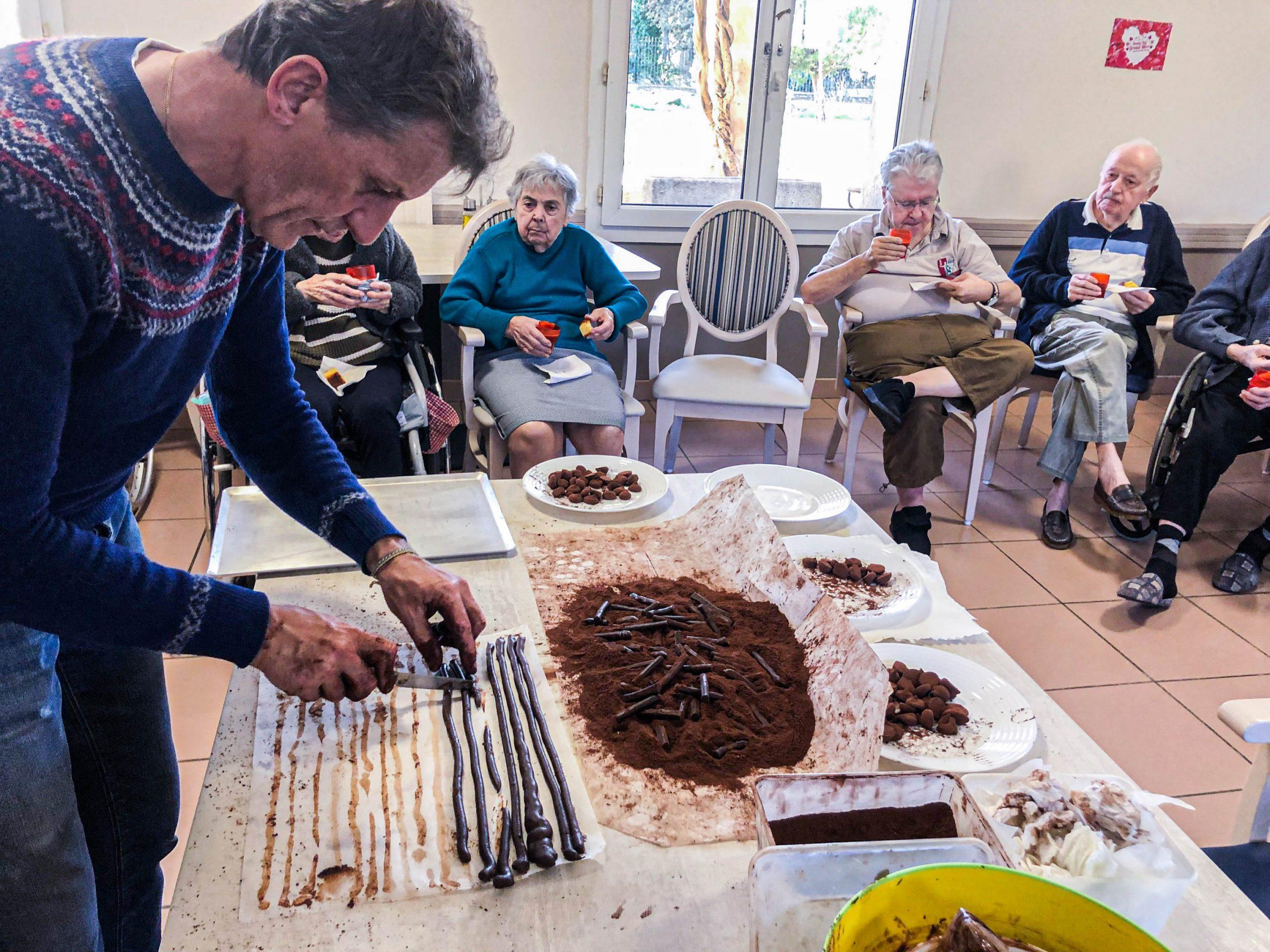 Moment chocolaté au Château de la Bourgade
