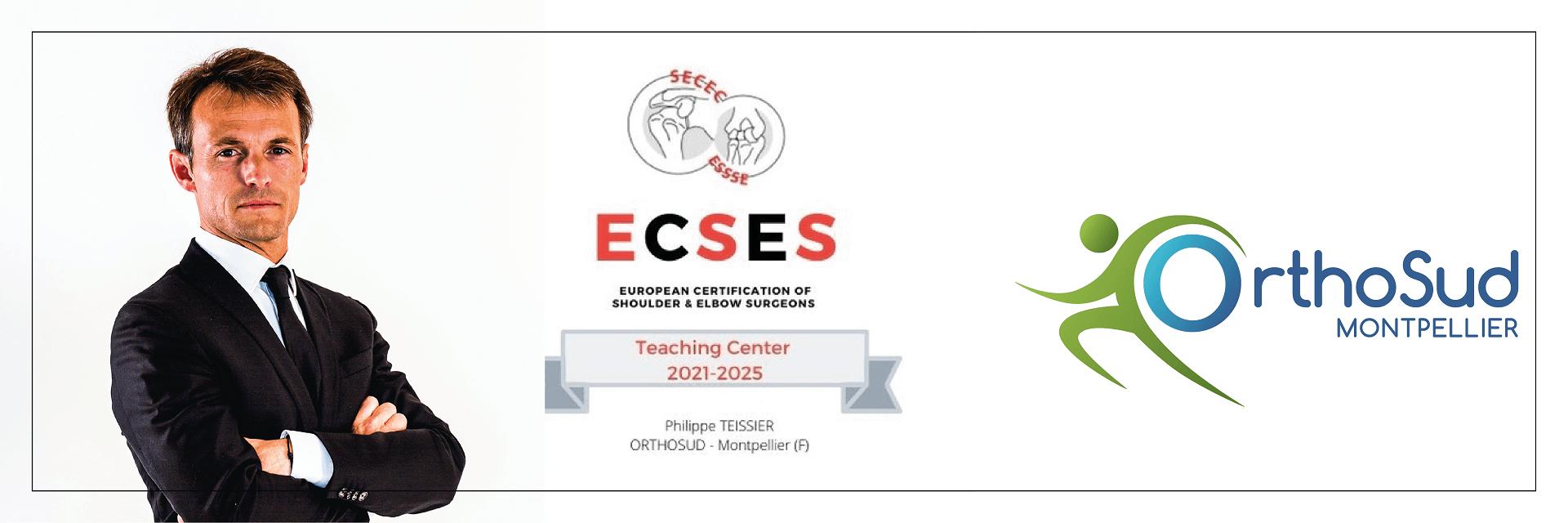 Le Docteur Philippe Teissier et l'unité Orthosud Epaule, deviennent centre européen de formation en chirurgie de l'épaule et du coude, certfiié par la SECEC